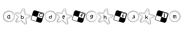 Cookie Font Font LOWERCASE