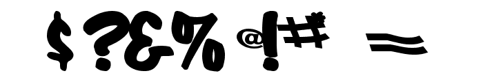 CoolHandLuke Bold Font OTHER CHARS