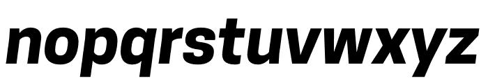 CooperHewitt-BoldItalic Font LOWERCASE