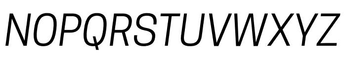 CooperHewitt-BookItalic Font UPPERCASE