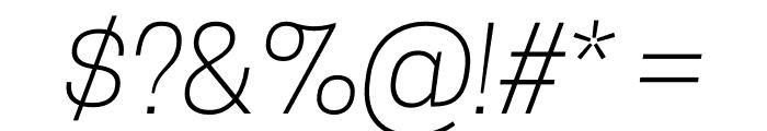 CooperHewitt-LightItalic Font OTHER CHARS