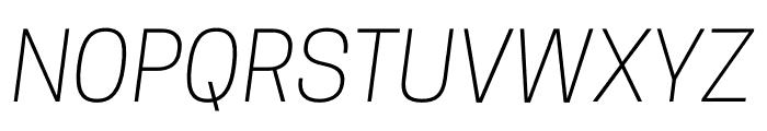CooperHewitt-LightItalic Font UPPERCASE