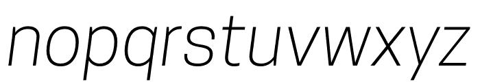 CooperHewitt-LightItalic Font LOWERCASE