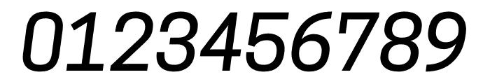 CooperHewitt-MediumItalic Font OTHER CHARS