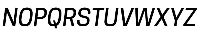 CooperHewitt-MediumItalic Font UPPERCASE