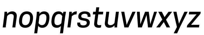 CooperHewitt-MediumItalic Font LOWERCASE