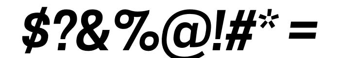 CooperHewitt-SemiboldItalic Font OTHER CHARS