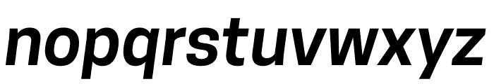 CooperHewitt-SemiboldItalic Font LOWERCASE