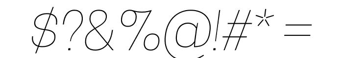 CooperHewitt-ThinItalic Font OTHER CHARS