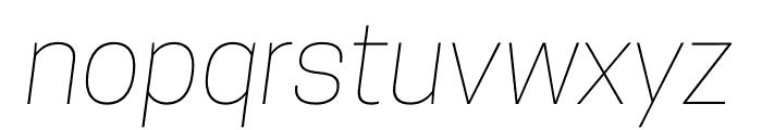 CooperHewitt-ThinItalic Font LOWERCASE