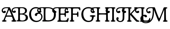 Coopman Font UPPERCASE
