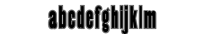 Copper Canyon Inline WBW Font LOWERCASE