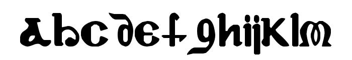 Coptic Eyes Latin Font LOWERCASE