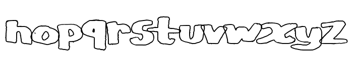 CopyStand hollow Font LOWERCASE