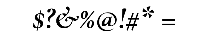 Cormorant Garamond Bold Italic Font OTHER CHARS