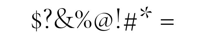 Cormorant Garamond Light Font OTHER CHARS