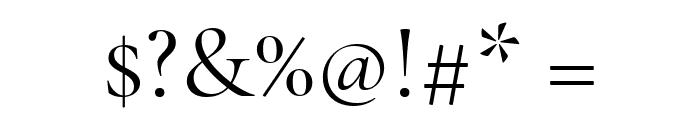 Cormorant Garamond Regular Font OTHER CHARS