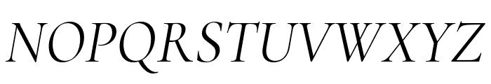 Cormorant Italic Font UPPERCASE