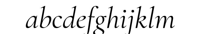 Cormorant Italic Font LOWERCASE