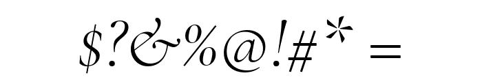 Cormorant Light Italic Font OTHER CHARS