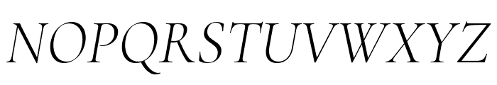 Cormorant Light Italic Font UPPERCASE
