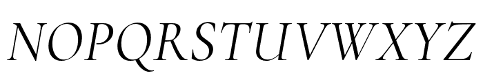 Cormorant Regular Italic Font UPPERCASE