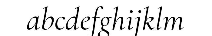 Cormorant Regular Italic Font LOWERCASE