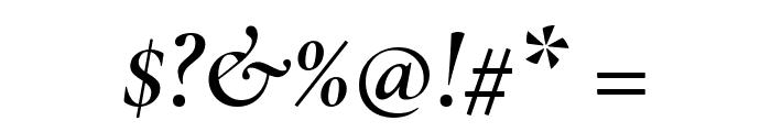 Cormorant SemiBold Italic Font OTHER CHARS