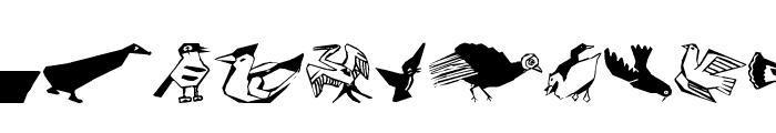 CorneredBirds Font UPPERCASE