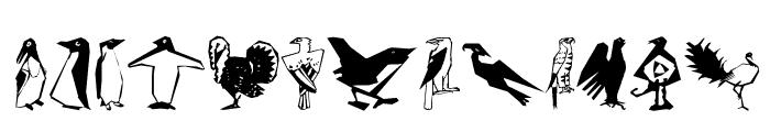 CorneredBirds Font LOWERCASE