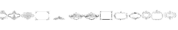 Cornucopia Caligrafica Font LOWERCASE