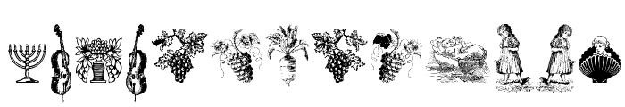 Cornucopia od Dingbats Six Font UPPERCASE