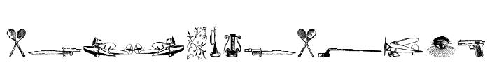 Cornucopia od Dingbats Six Font LOWERCASE
