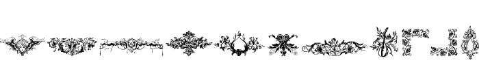 Cornucopia of Dingbats Four Font LOWERCASE