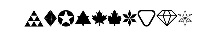 Cornucopia of Dingbats Nine Regular Font OTHER CHARS