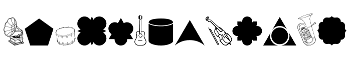 Cornucopia of Dingbats Nine Regular Font LOWERCASE