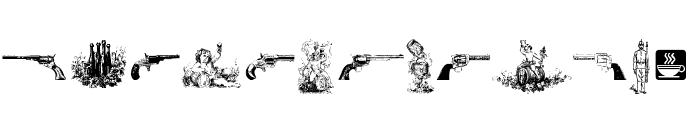 Cornucopia of Dingbats Seven Font UPPERCASE