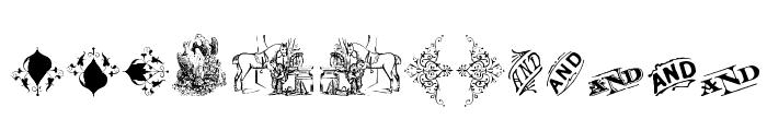 Cornucopia of Dingbats Three Font UPPERCASE