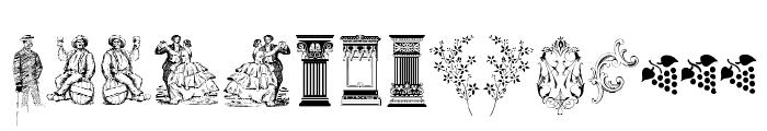Cornucopia of Dingbats Two Font LOWERCASE