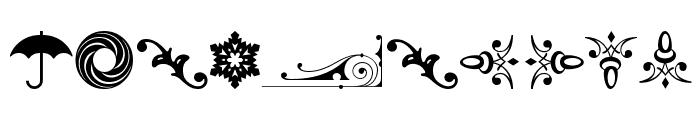 Cornucopia of Ornaments Four Font OTHER CHARS