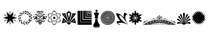 Cornucopia of Ornaments Four Font UPPERCASE