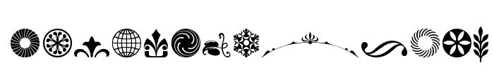 Cornucopia of Ornaments Three Font LOWERCASE