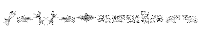 Cornucopia of Ornaments Two Font UPPERCASE