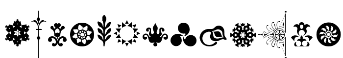 Cornucopia of Ornaments Two Font LOWERCASE