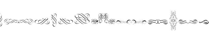 Cornucopia of Ornaments Font UPPERCASE