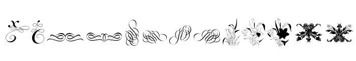 Cornucopia of Ornaments Font LOWERCASE