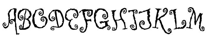 Corps-Script Font UPPERCASE