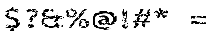 Corpse Font OTHER CHARS