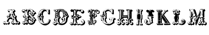 CorrodetInitials Font UPPERCASE