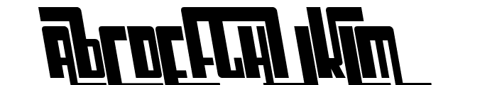 Cosmic Age Bold Italic Font UPPERCASE